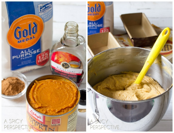 Making Pumpkin Pound Cake with Chocolate Ganache | ASpicyPerspective.com #pumpkin #fall #poundcake #chocolate
