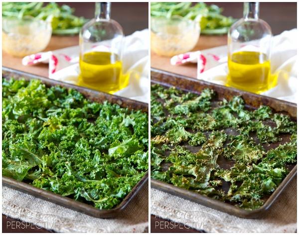 Making - Baked Kale Chips Recipe #kale #healthy #fall #vegan #paleo