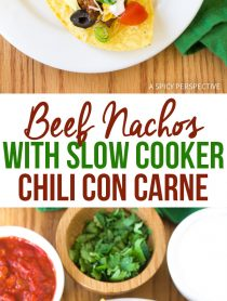 Best Beef Nachos with Slow Cooker Chili Con Carne Recipe