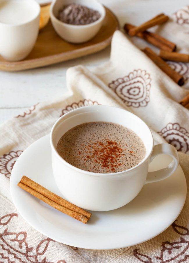 Coffee mug full of this mexican chocolate