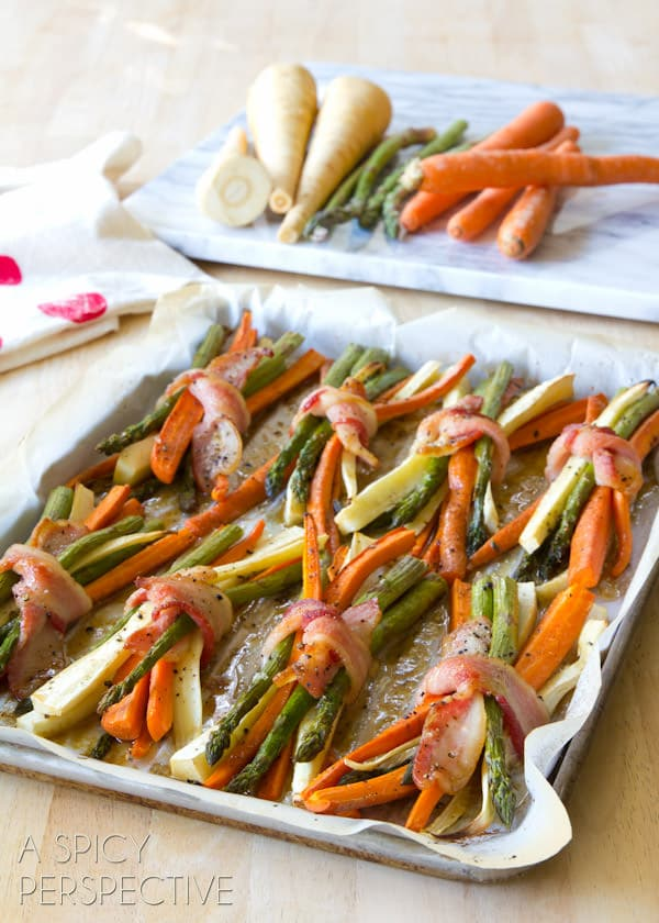 Vegetable Dishes For Christmas.Oven Roasted Vegetables With Maple Glaze