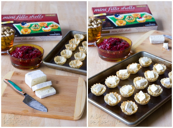 How to Make Baked Brie Bites - Easy and Elegant Appetizers #holiday #appetizers #thanksgiving #christmas