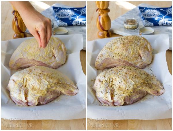 How to Make Roasted Turkey Breast Recipe with Creamy Tomato Gravy #thanksgiving #holidays #turkey #gravy