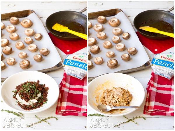 How to Make Stuffed Mushroom Recipe #holidays #appetizers #mushrooms #party