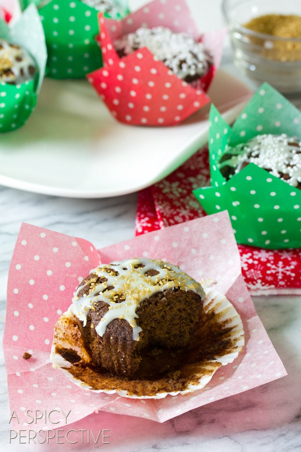 Glazed Gingerbread Muffins - A Spicy Perspective