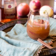 Apple Cinnamon Old Fashioned {Cocktail} #holiday #christmas #cocktail