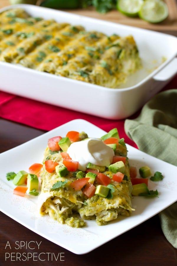 Chicken Enchiladas Salsa Verde