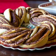 Chocolate Cinnamon Bread Wreath