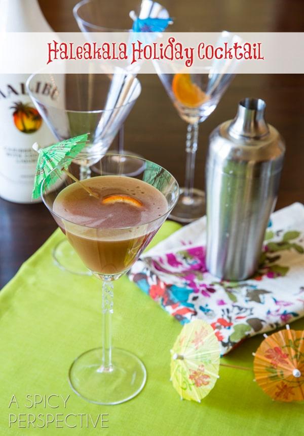 Haleakala Holiday - Malibu Rum Cocktail #holiday #newyearseve #cocktails