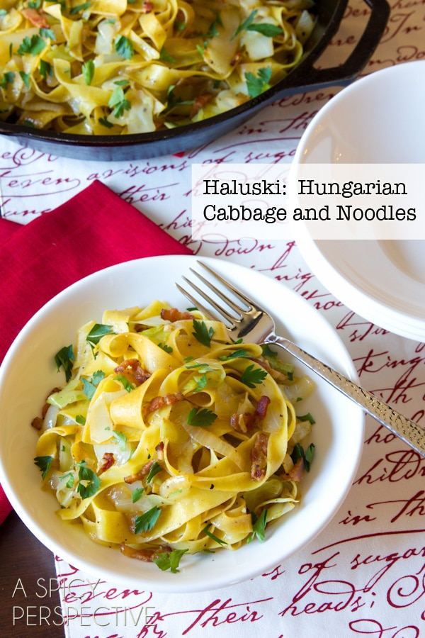 Haluski: Hungarian Cabbage and Noodles with Bacon! #holidays #pasta #bacon #spiritofnatale