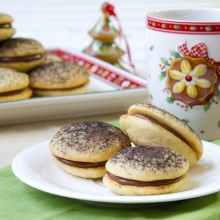 Sour Cream Cookies with Chocolate Ganache Filling