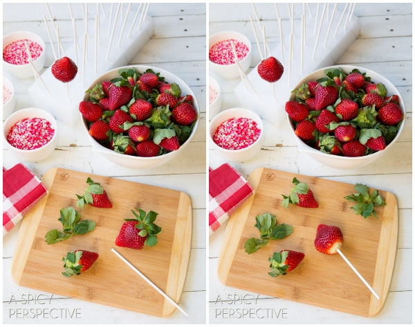 chocolate dipped strawberry pops - a spicy perspective, Ideas