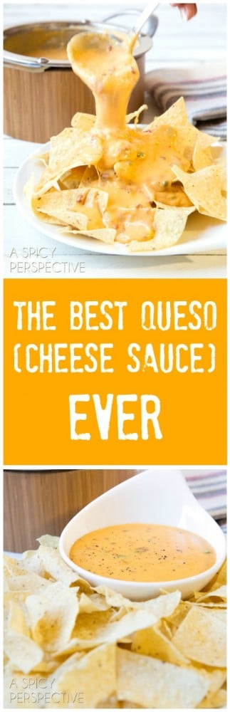 ... cheddar cheese is The Best Queso (Cheese Sauce) I've ever made