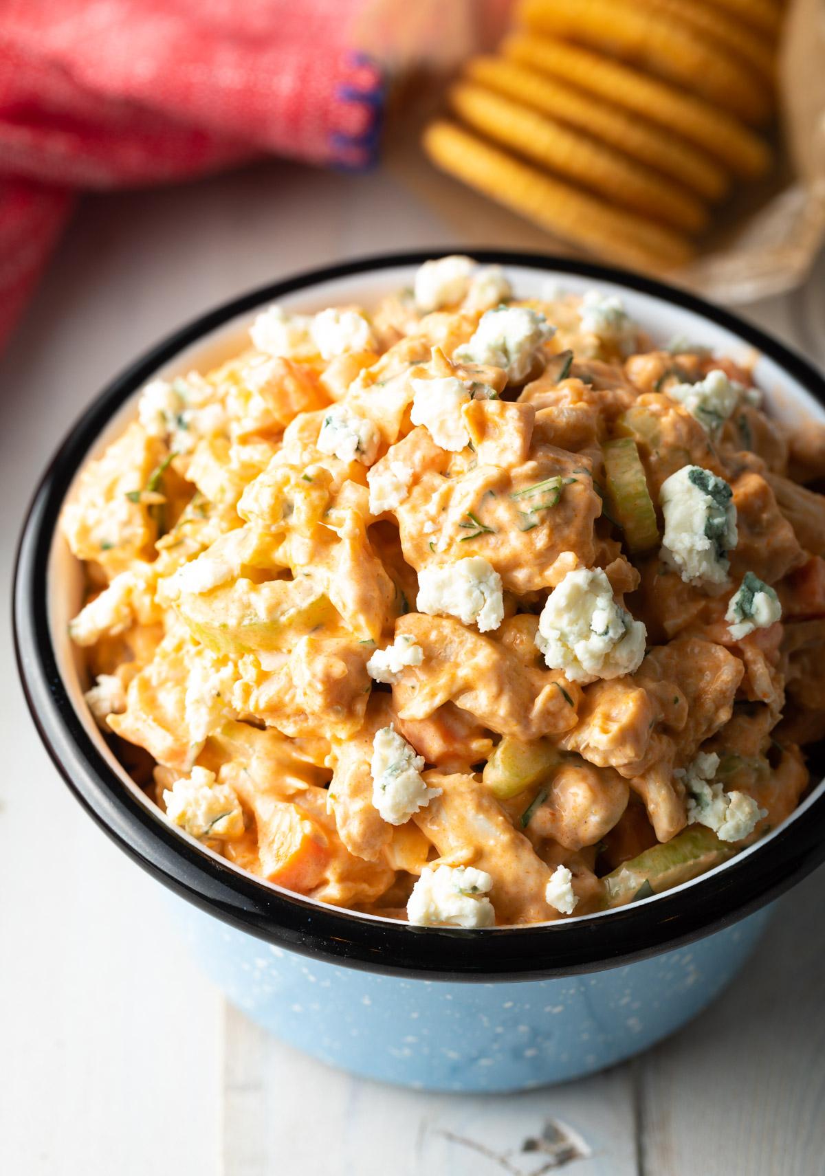 Easy Buffalo Chicken Salad Recipe VIDEO   A Spicy Perspective