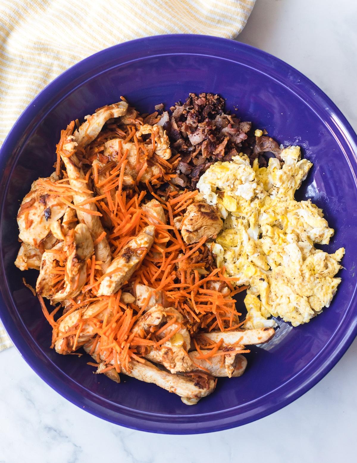 Making Cauliflower Fried Rice Recipe #ASpicyPerspective #cauliflower #chicken #paleo #keto #lowcarb