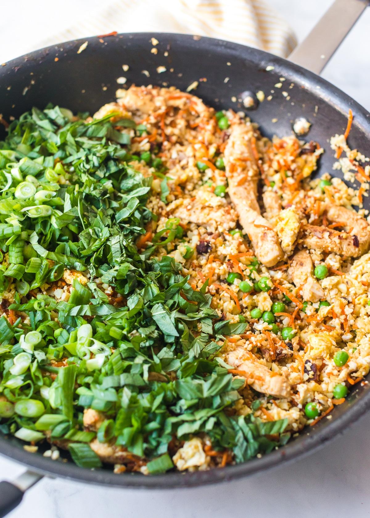 Keto Cauliflower Rice Recipe #ASpicyPerspective #cauliflower #chicken #paleo #keto #lowcarb