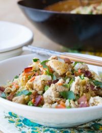 Cauliflower Fried Rice #Paleo #Healthy #GrainFree