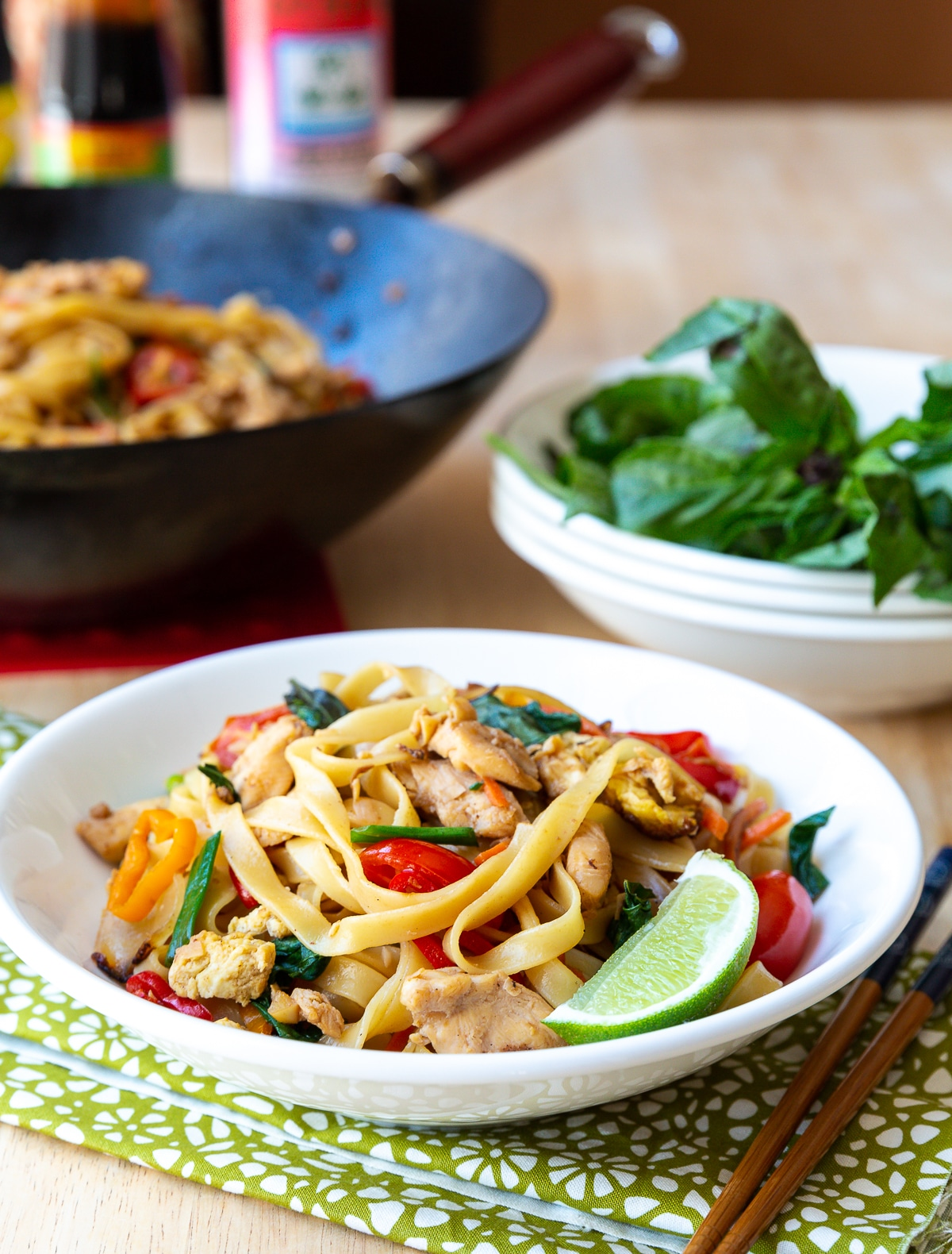 Pad Kee Mao Recipe (Drunken Noodles) #ASpicyPerspective #Thai #Recipe #Noodles #Wok