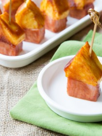 BBQ Sauce Glazed - Pineapple Ham Party Picks!