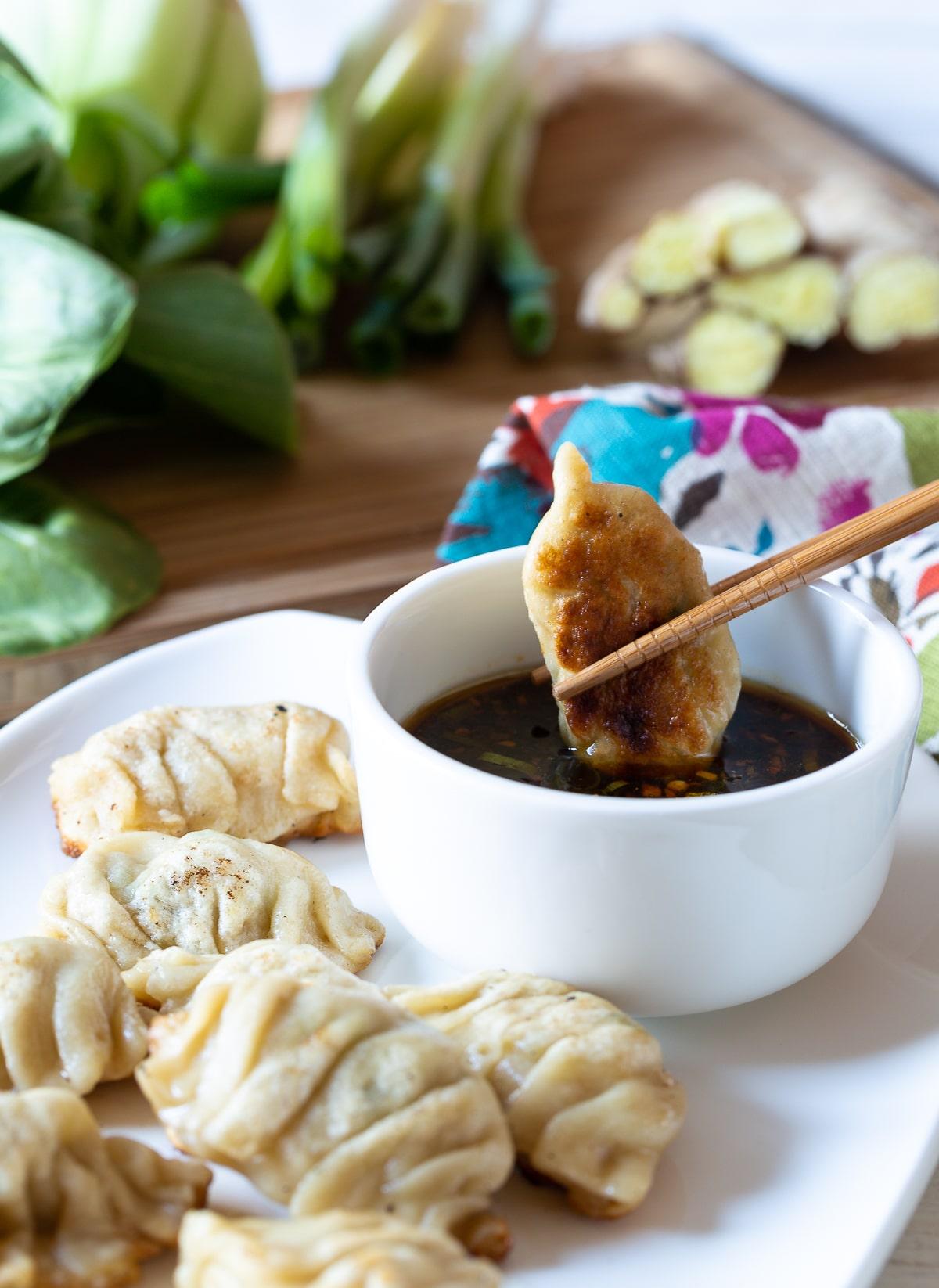 Potstickers Recipe - Chinese Dumplings  #potstickers #dumplings #chinese #appetizer #dimsum