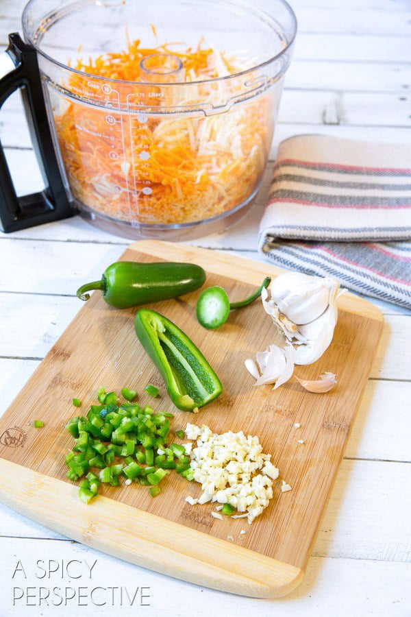 "Making the BEST ""Queso"" Cheese Dip Ever! ASpicyPerspective.com"