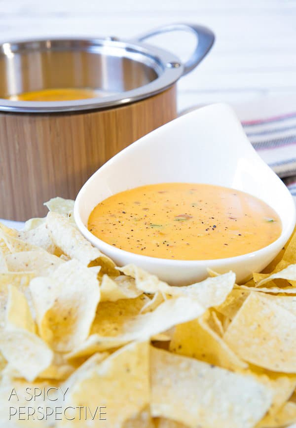 The BEST Queso Cheese Dip Ever! ASpicyPerspective.com