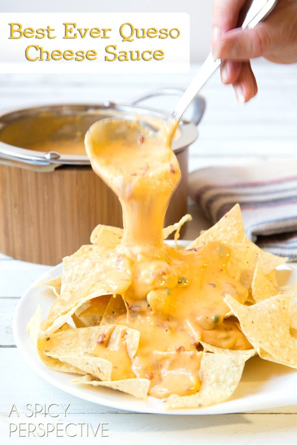 The BEST EVER Nacho Cheese Sauce (Queso) #cheese #cheesesauce #queso # ...