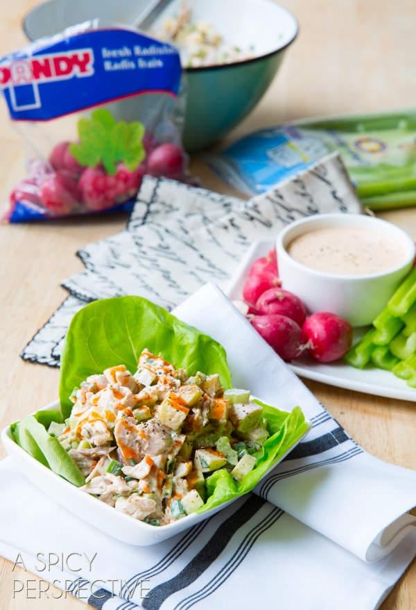 Simple {Paleo} Ranch Dressing and Buffalo Chicken Salad #paleo #grainfree #glutenfree #dairyfree
