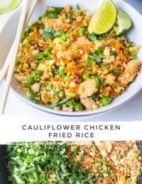 Low Carb Cauliflower Fried Rice Recipe #ASpicyPerspective #cauliflower #chicken #paleo #keto #lowcarb