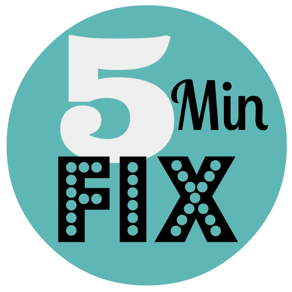 5 Minute Fix on ASpicyPerspective.com