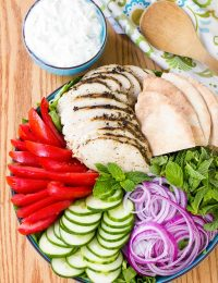 Chicken Gyro Salad with Creamy Tzatziki Recipe
