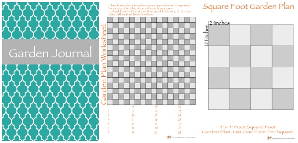 Free Garden Journal Printables