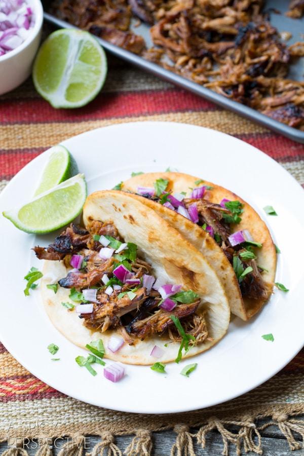 Slow Cooker Carnitas #carnitas #tacos #mexican #slowcooker #crockpot