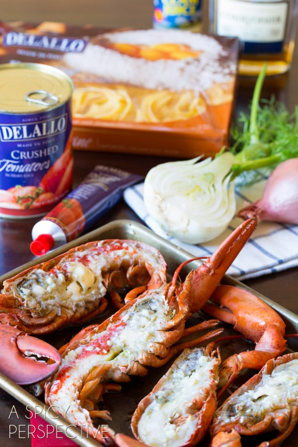 Best Lobster Recipes - Lobster Fra Diavolo #pasta #lobster #valentinesday #gourmet