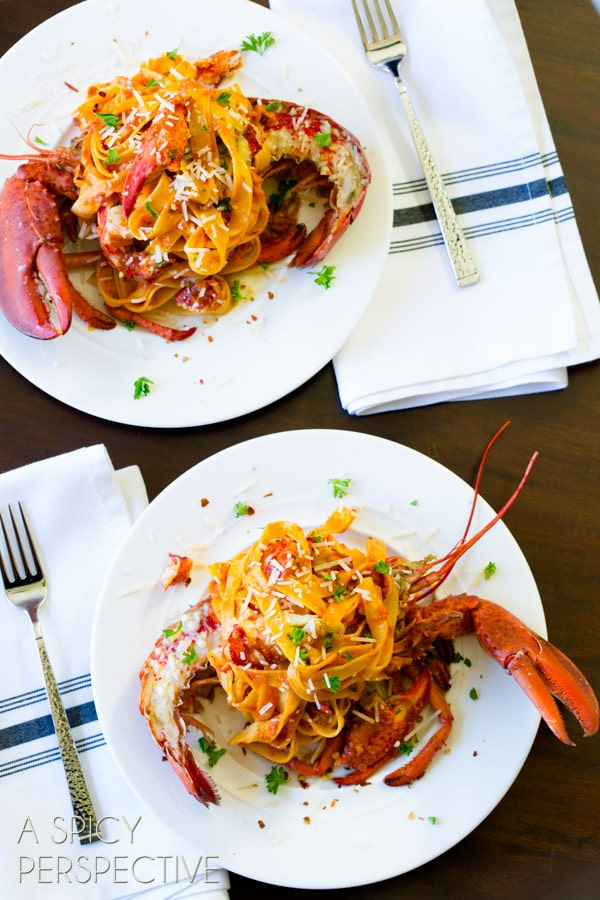 Amazing Lobster Recipes - Lobster Fra Diavolo #pasta #lobster #valentinesday #gourmet
