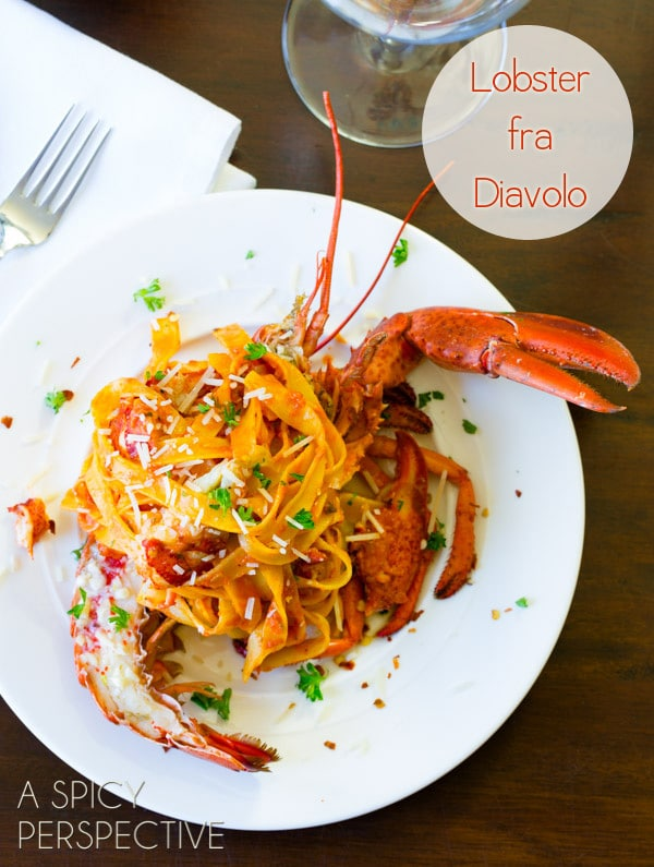 Lobster Recipes - Lobster Fra Diavolo #pasta #lobster #valentinesday #gourmet