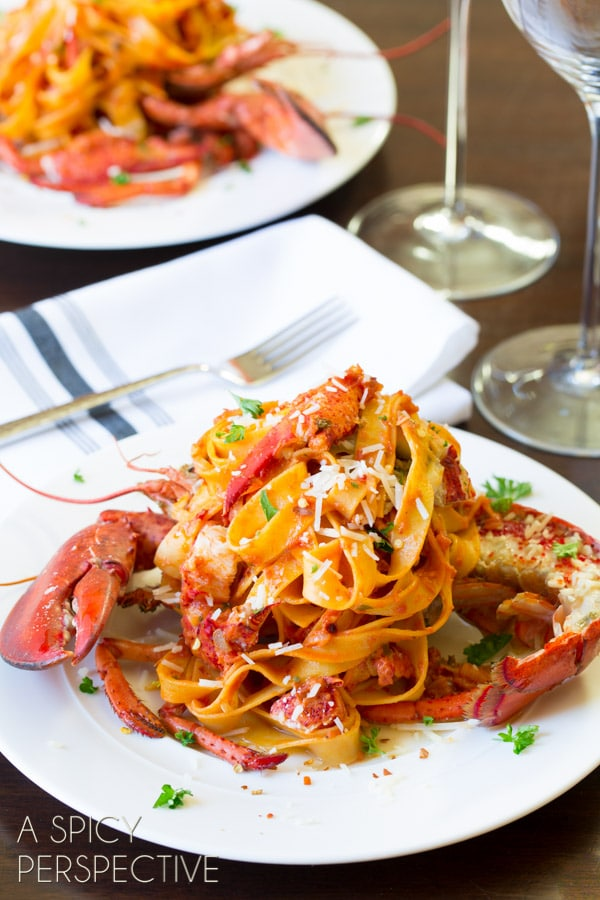 Lobster Recipes - Fra Diavolo #pasta #lobster #valentinesday #gourmet