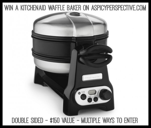 WIN a #KitchenAid Waffle Baker on ASpicyPerspective.com! ($150 Value) #Giveway #Prize #Breakfast #Waffles