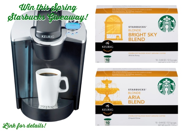 Starbucks Giveaway - $200 Value - See Details on ASpicyPerspective.com #giveaway #coffee #spring
