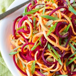 Easy Raw Beet and Sweet Potato Salad #salad #healthy #raw #sweetpotatoes #beets