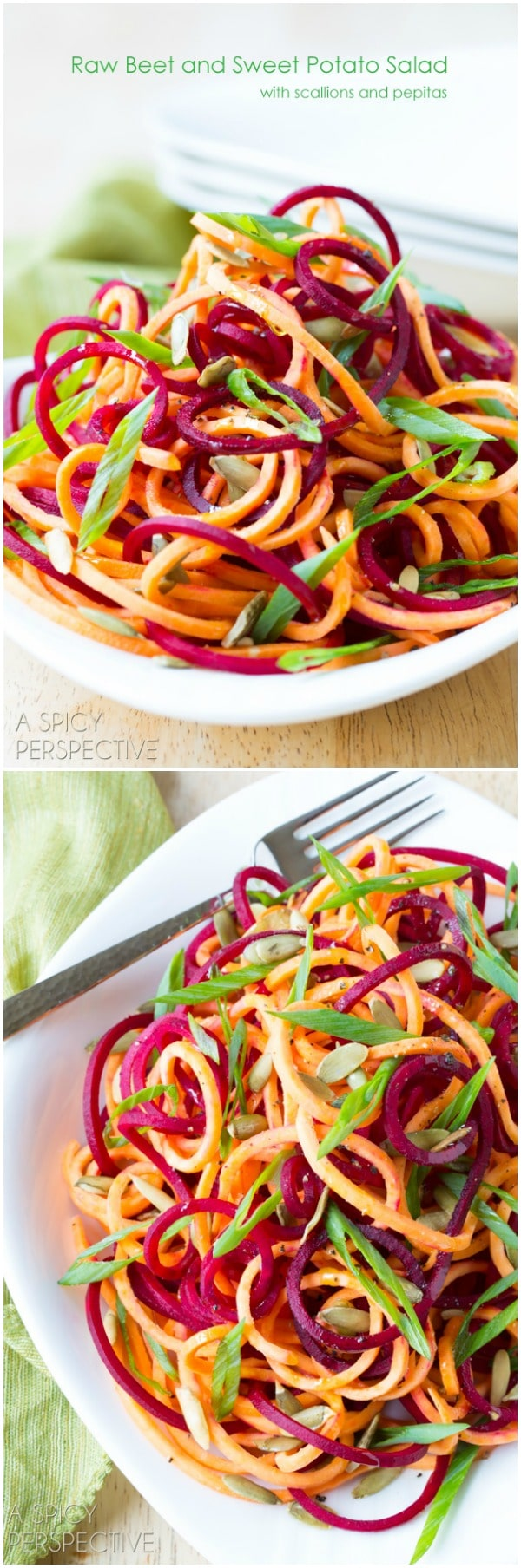 Raw Beet and Sweet Potato Salad Recipe