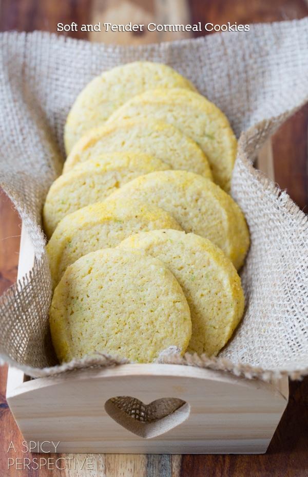 Cornmeal Cookies (Best Sugar Cookie Recipe Variation!) #cookies #corn #recipe