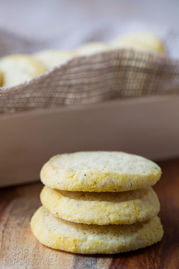 Soft Cornmeal Cookies (Best Sugar Cookie Recipe Variation!) #cookies #corn #recipe