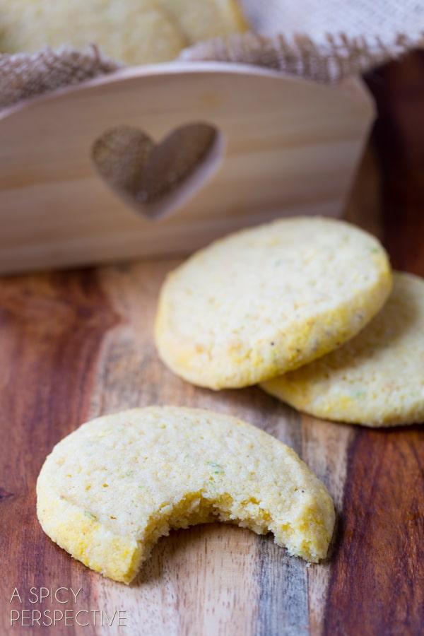 Tender Cornmeal Cookies (Best Sugar Cookie Recipe Variation!) #cookies #corn #recipe