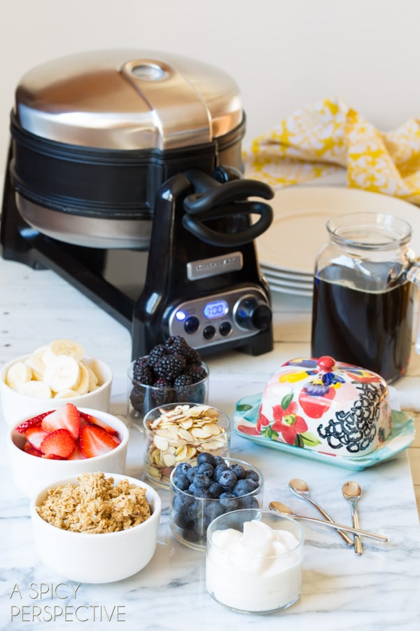 How to Make the Best Waffle Recipe - Yogurt Vanilla Bean Waffles #breakfast #waffles #giveaway