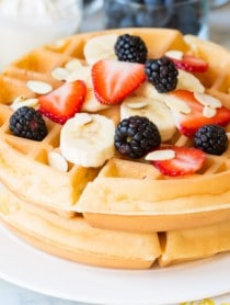 Yogurt Vanilla Bean Waffles