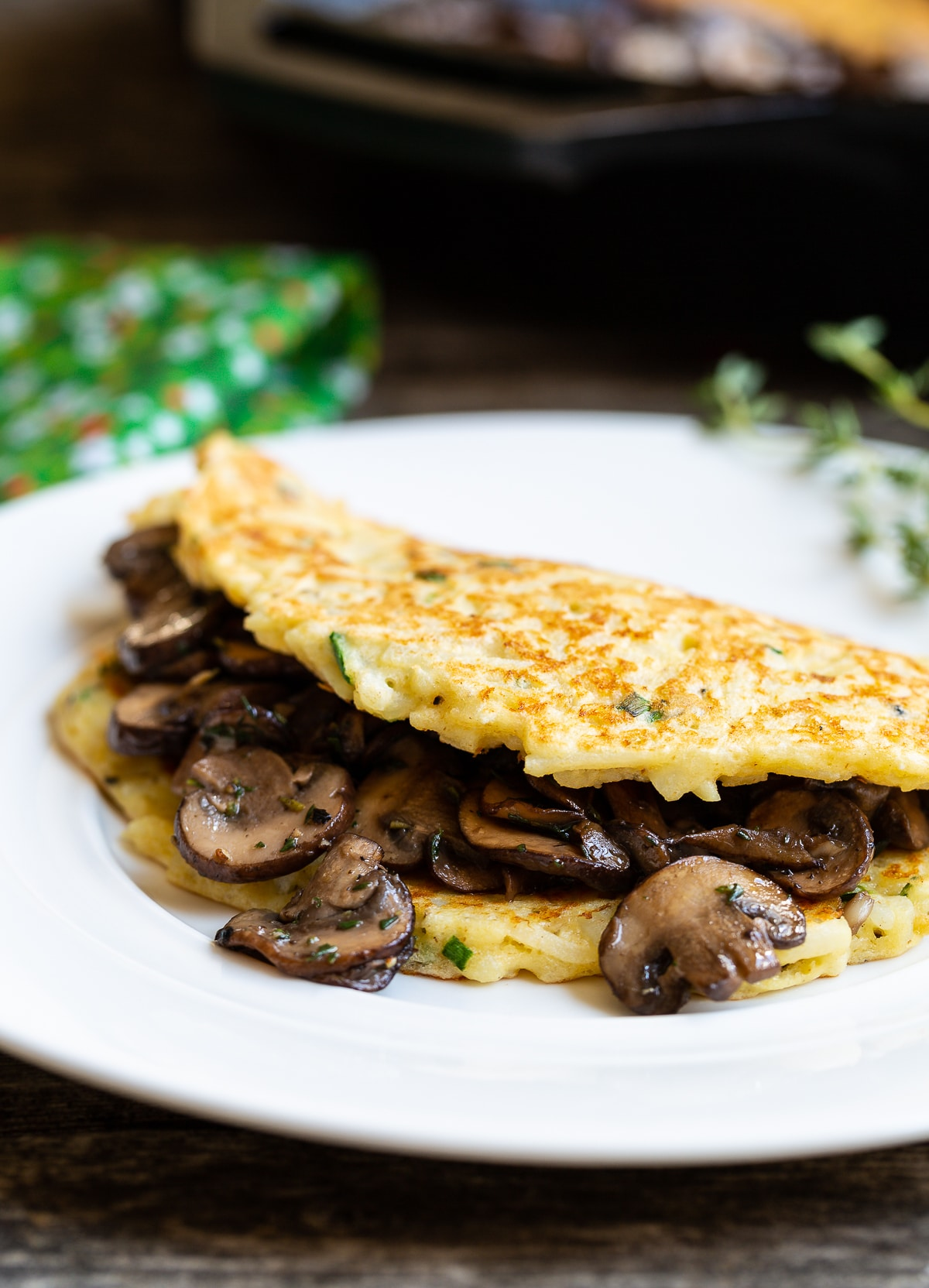 Best Boxty Recipe: Irish Potato Pancakes with Sauteed Mushrooms and Whiskey Gravy #stpaddyday #stpatricksday #irish #recipe