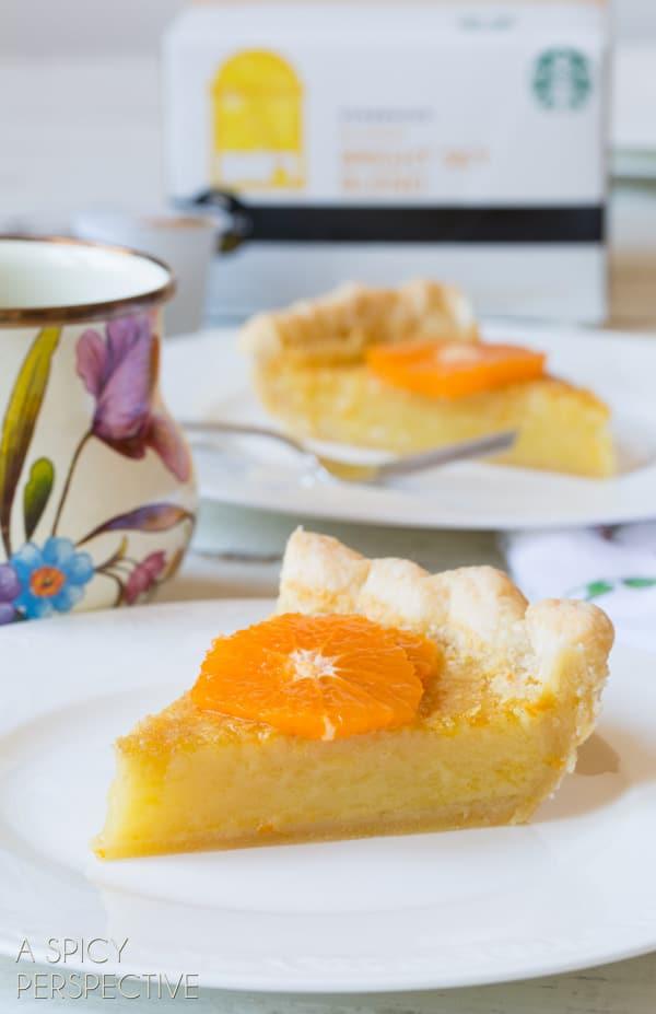 Easy Chess Pie - A Creamy Southern Favorite! #Pie #ChessPie #PieCrust