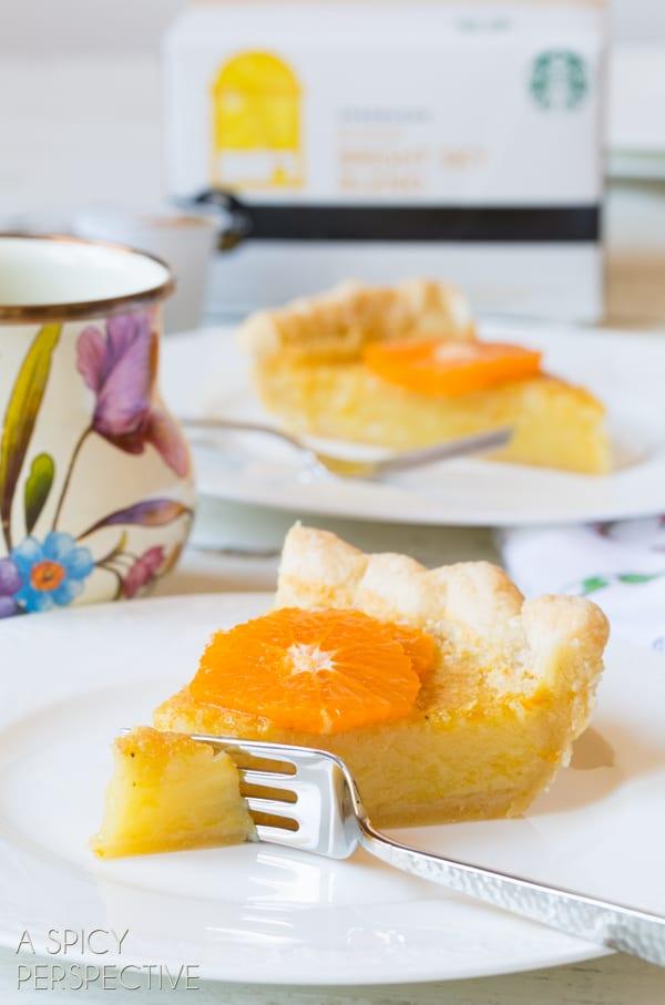 Perfect Chess Pie - A Creamy Southern Favorite! #Pie #ChessPie #PieCrust