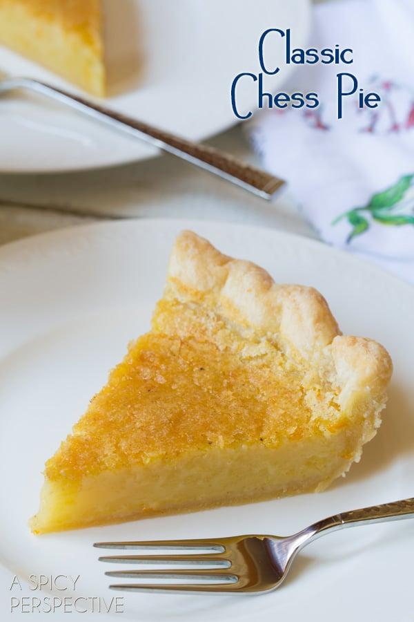 Classic Chess Pie - A Creamy Southern Favorite! #Pie #ChessPie #PieCrust